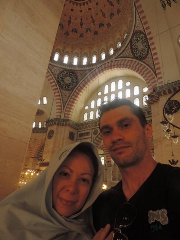Dentro da Suleymaniye Cami