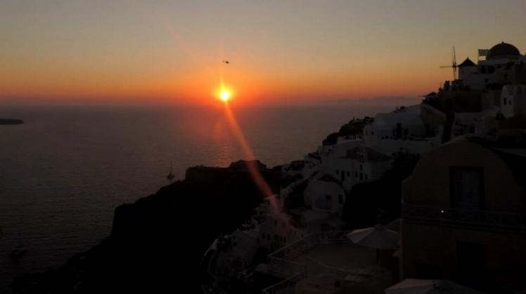 Pôr do sol em Oía