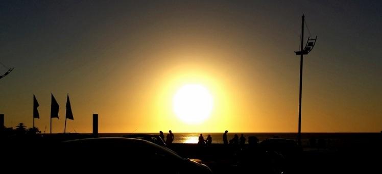 Pôr do sol no Rio da Prata