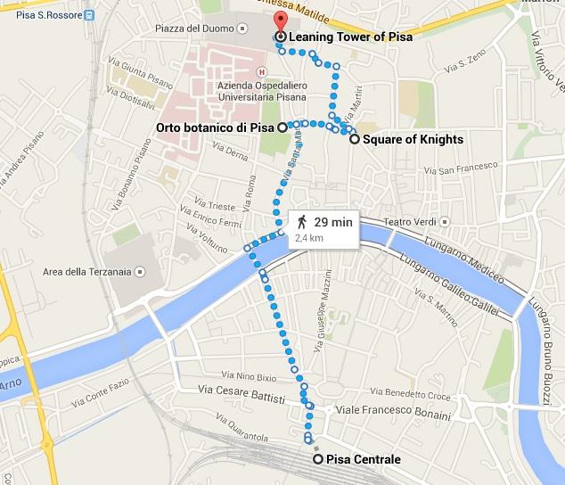 Mapa de Pisa