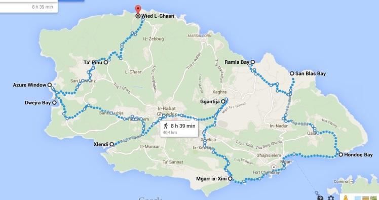 Mapa de Gozo