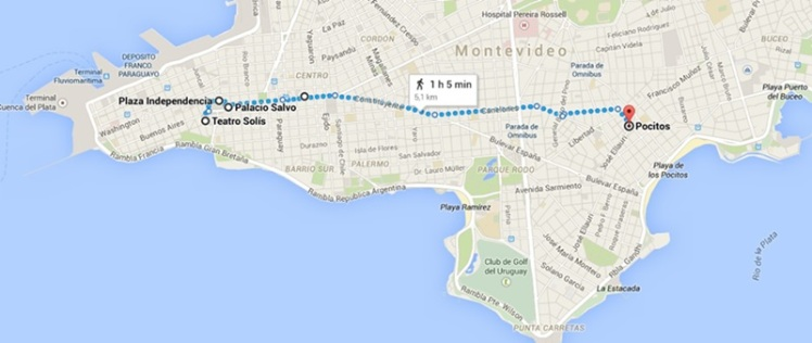 Mapa de Montevidéu