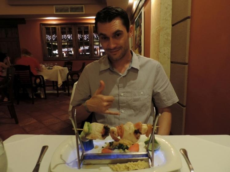 Broche de frutos do mar no Restaurante Gourmet