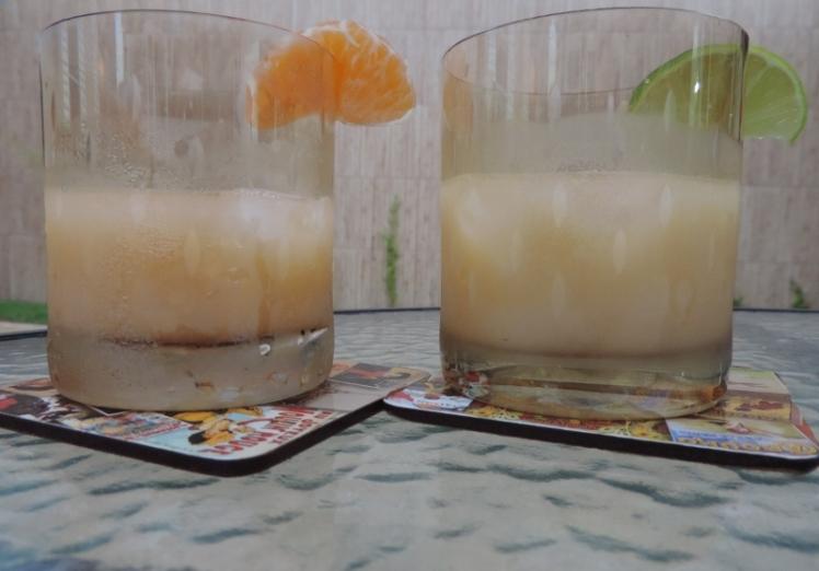 Caipirinha de Yakult (tangerina e limão)