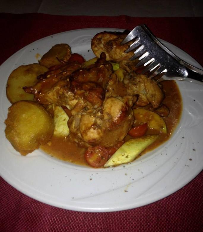 Coelho com batatas