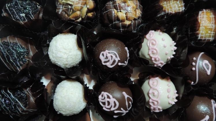 Bombons finos da Doce Sabor Chocolateria