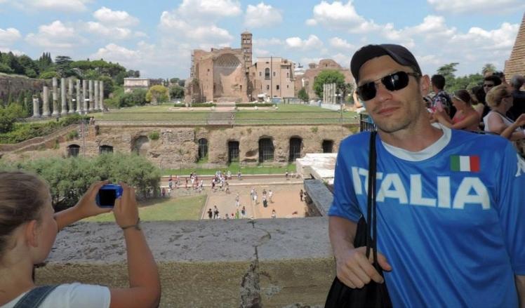 Vista do Foro Romano a partir do Coliseu