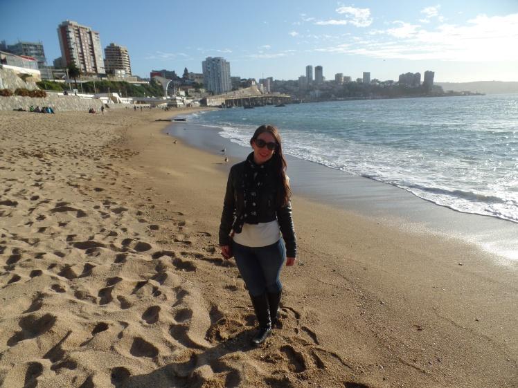 Praia em Viña