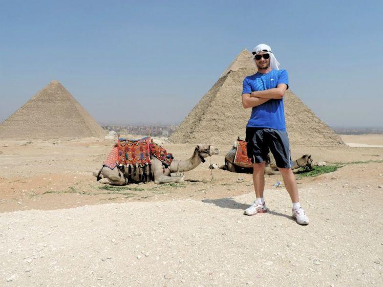 A pirâmides Quéops e Quéfren