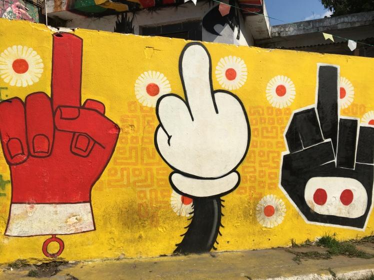Grafites de protesto